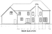 Traditional Style House Plan - 3 Beds 2.5 Baths 3047 Sq/Ft Plan #75-183 Exterior - Rear Elevation