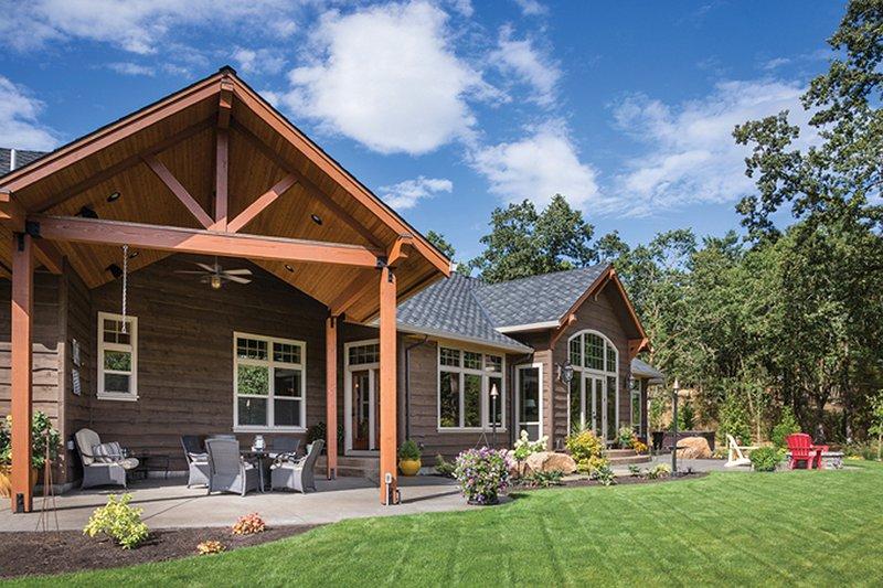 Ranch Exterior - Rear Elevation Plan #48-712 - Houseplans.com
