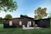 Contemporary Style House Plan - 3 Beds 2 Baths 1131 Sq/Ft Plan #923-166 Exterior - Rear Elevation