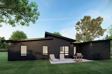 House Plan Design - Contemporary Exterior - Rear Elevation Plan #923-166