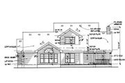 Southern Style House Plan - 3 Beds 3 Baths 1994 Sq/Ft Plan #120-138 Exterior - Rear Elevation