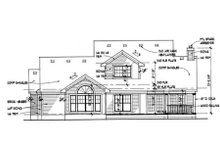 Southern Exterior - Rear Elevation Plan #120-138