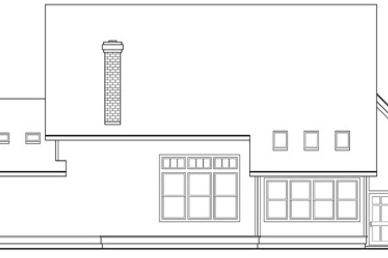 Farmhouse Exterior - Rear Elevation Plan #124-193 - Houseplans.com