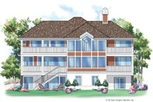 Home Plan - Traditional Exterior - Rear Elevation Plan #930-133