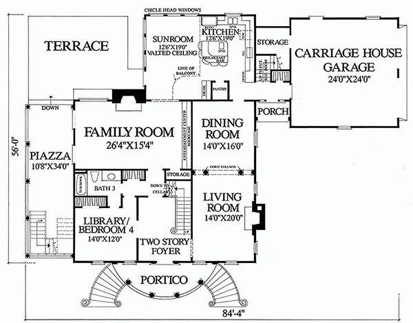 Classical Floor Plan - Main Floor Plan Plan #137-222