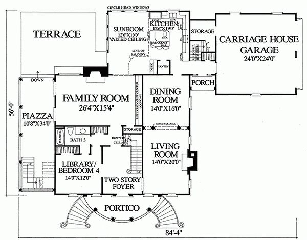 Home Plan - Classical Floor Plan - Main Floor Plan #137-222