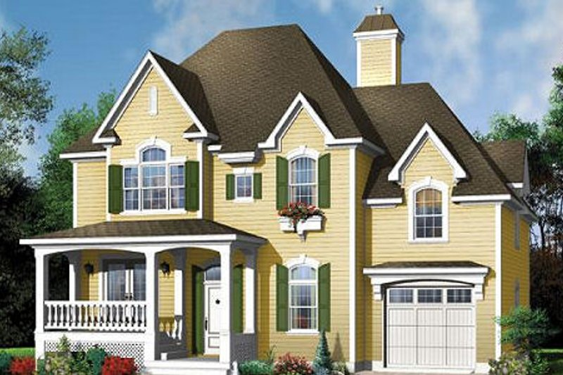 Country Exterior - Front Elevation Plan #23-407 - Houseplans.com