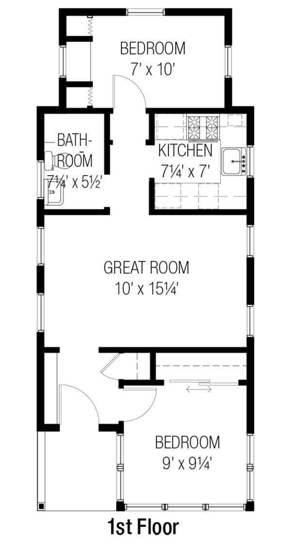 Cottage Floor Plan - Main Floor Plan #915-16