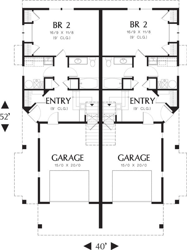 Modern Floor Plan - Main Floor Plan Plan #48-628