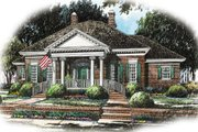 Colonial Style House Plan - 3 Beds 2.5 Baths 2697 Sq/Ft Plan #429-5 Exterior - Front Elevation