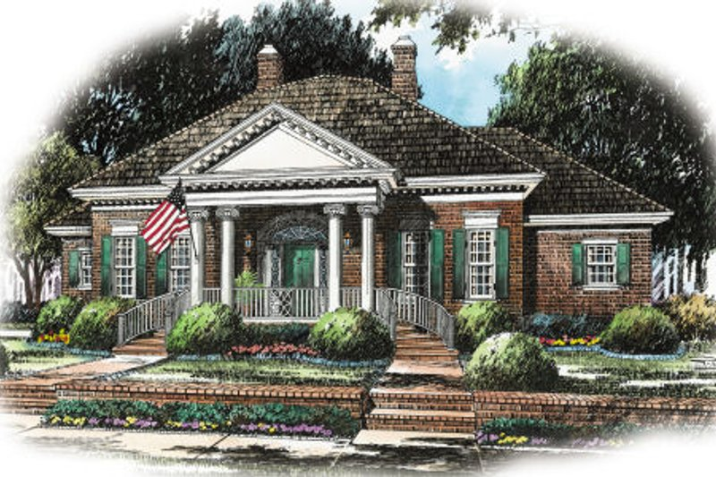 Home Plan - Colonial Exterior - Front Elevation Plan #429-5