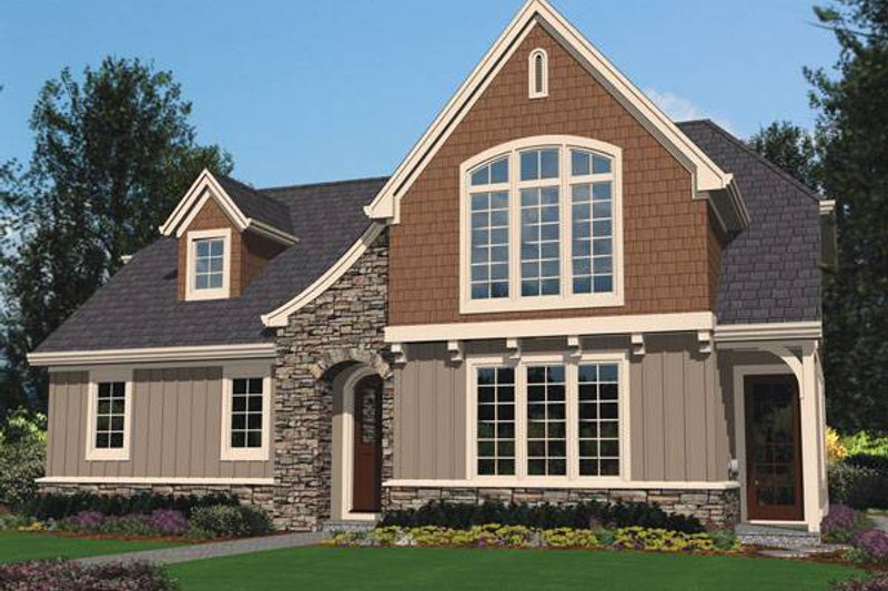 Craftsman Exterior - Front Elevation Plan #48-521