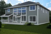 Contemporary Style House Plan - 4 Beds 4.5 Baths 3887 Sq/Ft Plan #1066-12 Exterior - Rear Elevation
