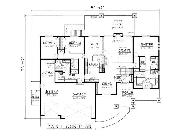Farmhouse Floor Plan - Main Floor Plan #112-167