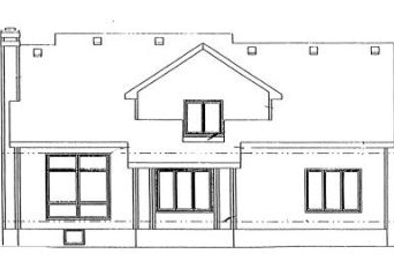 Traditional Exterior - Rear Elevation Plan #20-767 - Houseplans.com