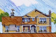 Craftsman Style House Plan - 4 Beds 2.5 Baths 3054 Sq/Ft Plan #440-1 Exterior - Front Elevation