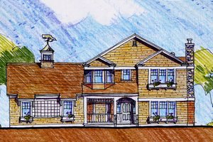 Craftsman Exterior - Front Elevation Plan #440-1