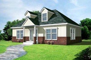 Cottage Exterior - Front Elevation Plan #100-403