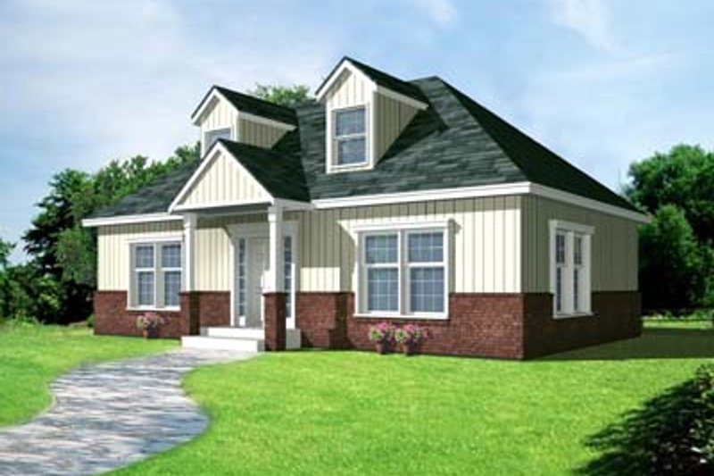 Cottage Style House Plan - 2 Beds 1 Baths 1000 Sq/Ft Plan #100-403 Exterior - Front Elevation