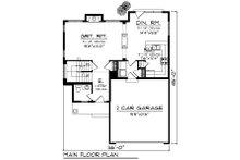 Craftsman Floor Plan - Main Floor Plan Plan #70-1210