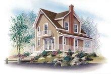 Cottage Exterior - Front Elevation Plan #23-2043