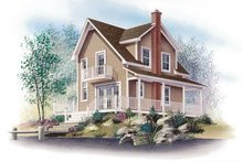 Cottage Exterior - Front Elevation Plan #23-2043