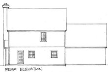 Colonial Exterior - Rear Elevation Plan #56-128