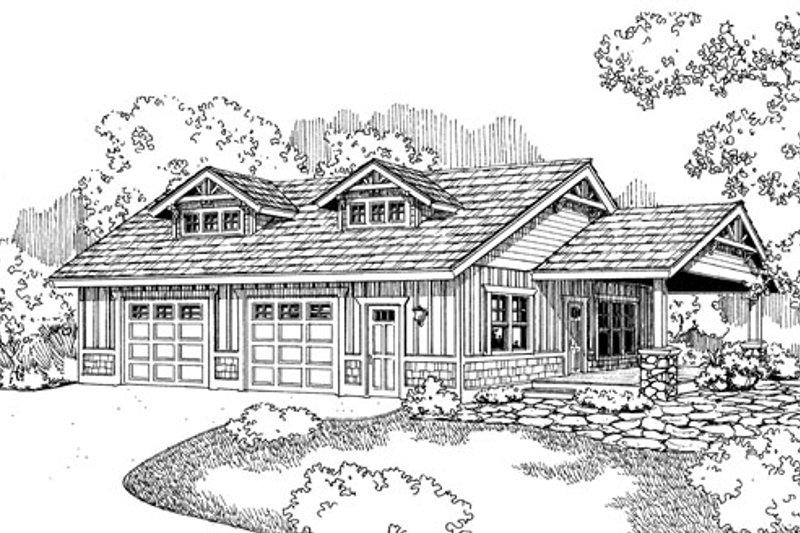 Craftsman Exterior - Front Elevation Plan #124-789 - Houseplans.com