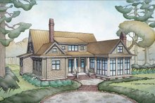 Country Exterior - Rear Elevation Plan #928-337