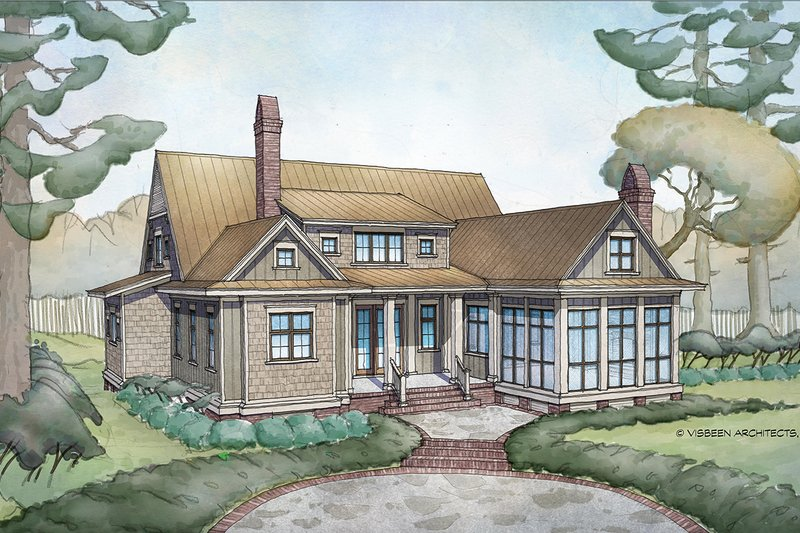 Country Style House Plan - 4 Beds 4.5 Baths 3466 Sq/Ft Plan #928-337 Exterior - Rear Elevation