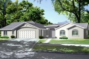 Ranch Style House Plan - 5 Beds 3.5 Baths 2702 Sq/Ft Plan #1-657 Exterior - Front Elevation