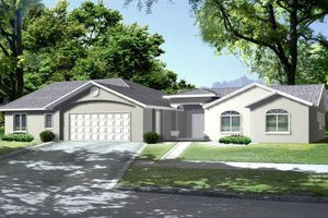Ranch Exterior - Front Elevation Plan #1-657
