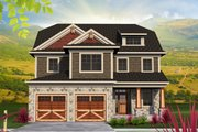 Traditional Style House Plan - 3 Beds 2.5 Baths 2622 Sq/Ft Plan #70-1201 Exterior - Front Elevation