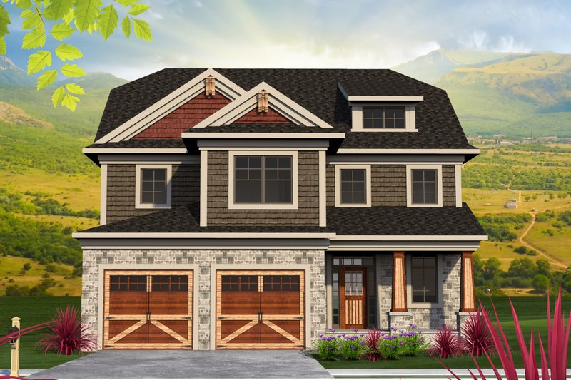 Traditional Style House Plan - 3 Beds 2.5 Baths 2622 Sq/Ft Plan #70-1201