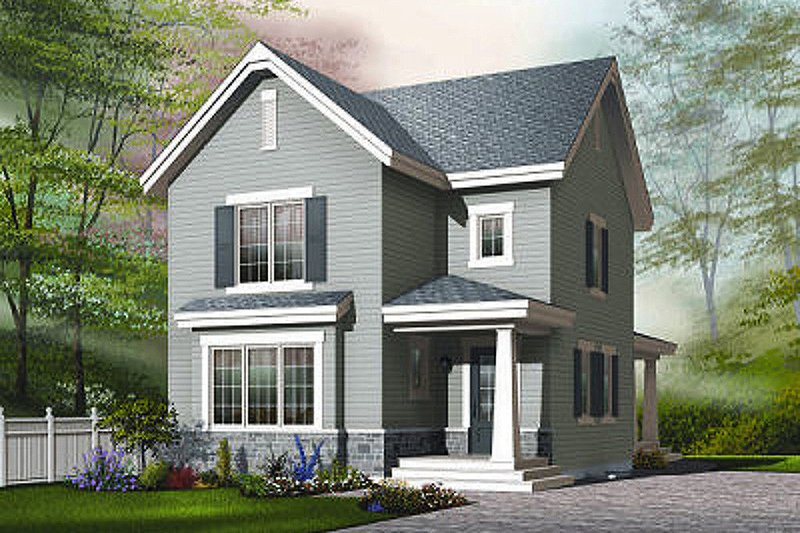 Architectural House Design - Farmhouse Exterior - Front Elevation Plan #23-741