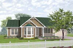 Traditional Exterior - Front Elevation Plan #50-261