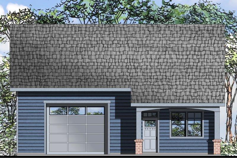 Dream House Plan - Craftsman Exterior - Front Elevation Plan #124-1072