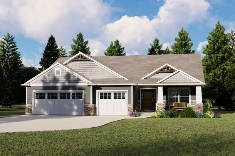 Home Plan - Ranch Exterior - Front Elevation Plan #1064-70