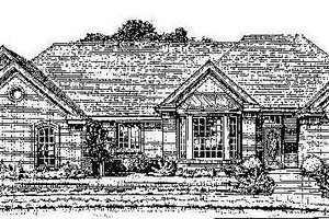 Colonial Exterior - Front Elevation Plan #310-712