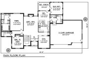 Traditional Style House Plan - 4 Beds 4.5 Baths 3892 Sq/Ft Plan #70-620 Floor Plan - Main Floor Plan
