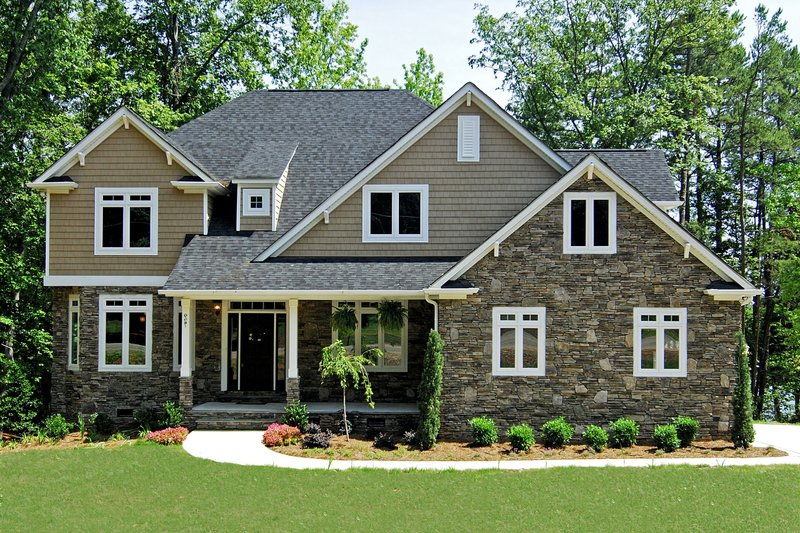 Traditional style, Craftsman details, elevation