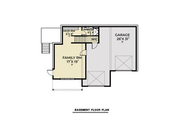 Architectural House Design - Contemporary Floor Plan - Lower Floor Plan #1070-145