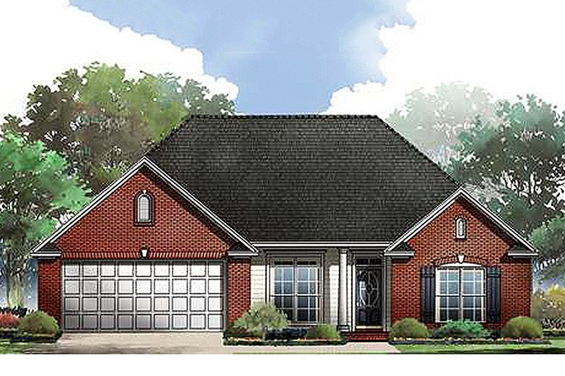 Traditional Exterior - Front Elevation Plan #21-159 - Houseplans.com