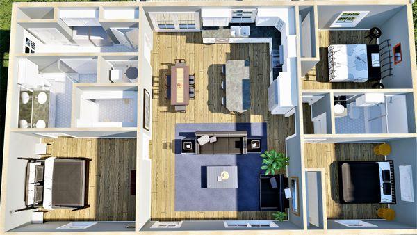 Home Plan - Cottage Floor Plan - Other Floor Plan #44-246