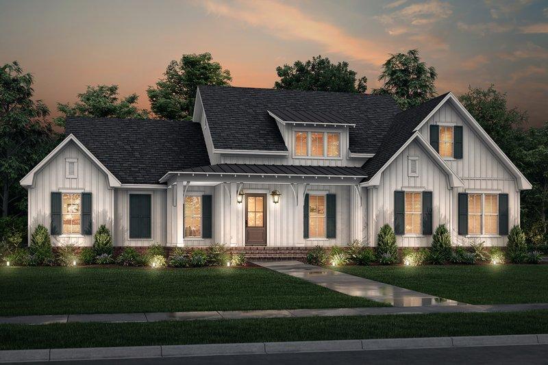 Dream House Plan - Farmhouse Exterior - Front Elevation Plan #430-244