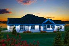 Ranch Exterior - Rear Elevation Plan #70-1134