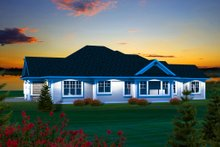 Home Plan - Ranch Exterior - Rear Elevation Plan #70-1134