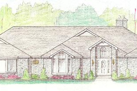 Traditional Exterior - Front Elevation Plan #421-142