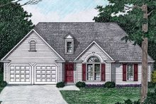 Home Plan - Traditional Exterior - Front Elevation Plan #129-147