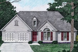 Architectural House Design - Traditional Exterior - Front Elevation Plan #129-147